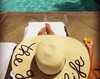 Personalized handmade sun hat