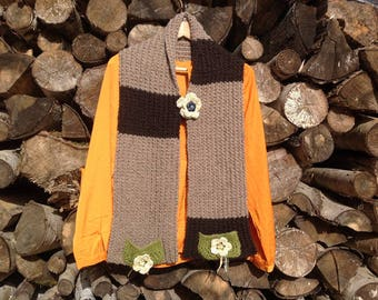 "Knitted scarf, 4 seasons collection ""spring..."""