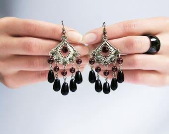 Earrings Garnet Passion