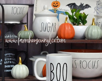 DECAL ONLY~Rae Dunn Inspired Boo Vinyl Decal~Rae Dunn Decal~Kitchen Decor~Farmhouse Decor~Fall Decor~Rae Dunn Canister Decal~Halloween