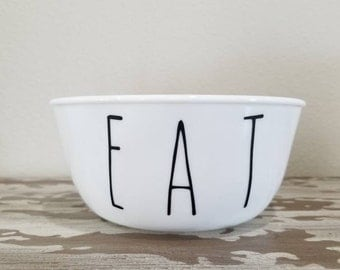 "Dog Bowl ""Eat"" - Dog Dish Pet Bowl Dog Bowl Eat Cute Dog Bowl Funny Dog Bowl Dog Food Bowl Dog Water Bowl Pet Dish Dog Bowl Set"