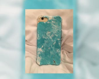 lifeart iphone case, 6, 6s, 7, hand painted by a local artist blue