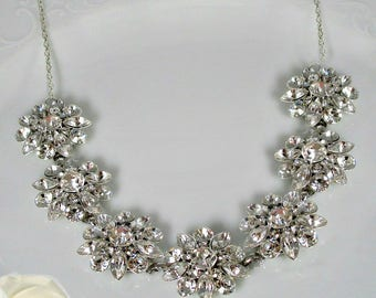 SALE, Bridal statement necklace, Wedding Necklace, Crystal Necklace, Statement Necklace, Bridal Necklace, Statement jewelry,