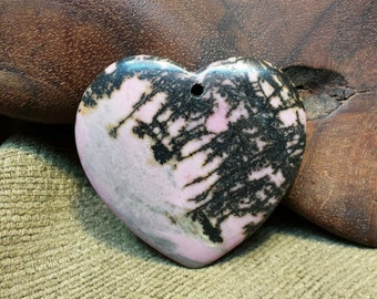 Natural Rhodochrosite Heart