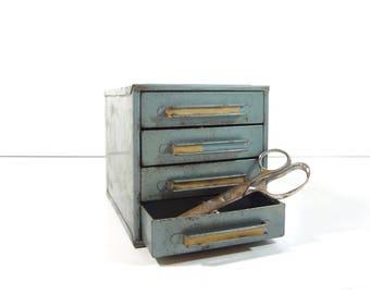Vintage Industrial Metal Cabinet / Parts Cabinet / Industrial Storage