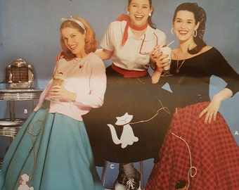 Simplicity 5403 Costume 50's Poodle Skirt Girls