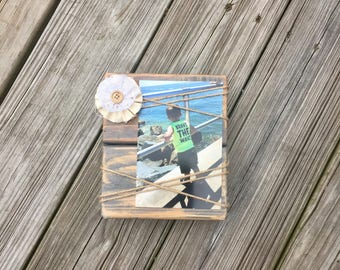 Lace & Twine Picture Frame
