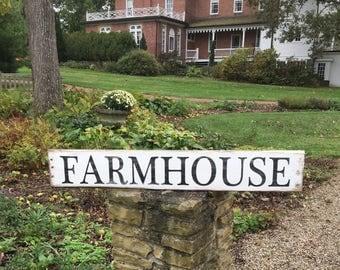 "Farmhouse sign, Rustic farmhouse sign 46"" x 7.25"""