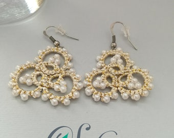Golden tatted earrings
