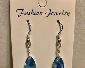 Aqua Marine AB Drop Earrings