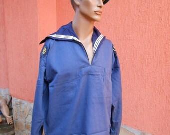 20% SALE Navy Blue  Sailor Jacket ,Vintage soldier uniform, Sailor uniform ,