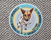 Speckles Sticker // Dog Sticker // Glass Goat Sticker // Speckles the Wonder Dog // Specklesode Sticker // Glass Goat at River Road Farm