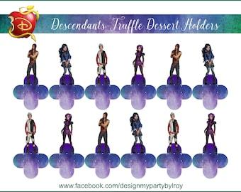 DESCENDANTS, DESCENDANTS CANDY Holders,Descendants Party Supplies,Descendants Treat Holder,Descendants Party and Paper Supplies,Descendants.