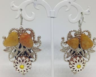 Handmade earrings, Agate earrings