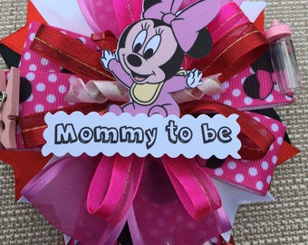Minnie Mouse Inspired - Baby Shower Corsage