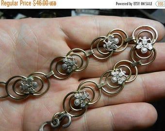 Summer Sale Vintage WW2 Sterling Silver Sweetheart Jewelry Bracelet