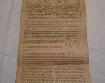 Easter Sale Vintage WW2 USN USS Drew Newspaper