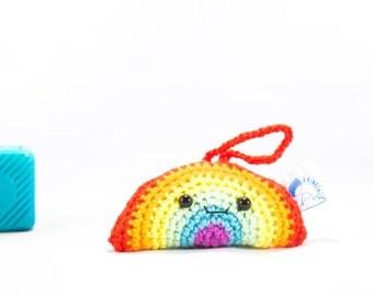 Crochet Rainbow, rainbow car decor, car mirror hanger, rainbow decoration, crochet decoration, rainbow car accessory, car buddy, gay pride