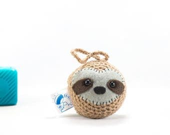 Sloth car buddy, car accessory, sloth car decor, car mirror hanging, crochet sloth, sloth decoration, amigurumi sloth, stuffed sloth