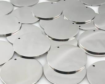 Stainless Steel Blanks, Package of 10, High Quality, USA, Stainless Steel Plates, Stainless Steel Discs, Engraving metal