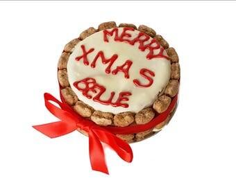 """Dog Christmas Cake, Dog birthday cake, Mini cake 4"""""""
