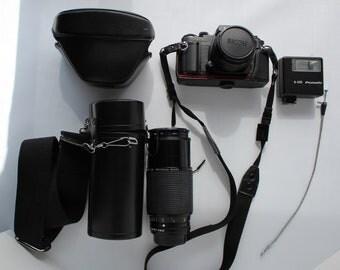 Ricoh XR-P 35mm Film Camera and Ricoh  Rikenon P Zoom 1:39 70~210mm Macro Pro 58