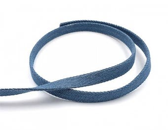 Strap in jeans Blue 10mm, by the yard