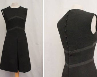 1960's Black Evening Pinafore Dress