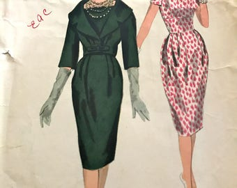 Vogue Couturier Design Dress and Cropped Jacket Pattern by Simonetta of Italy--Vogue 187---Size 14 Bust 34