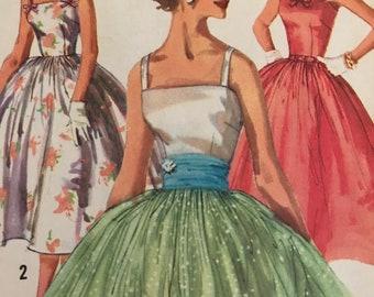 Vintage 1960's Evening Dress Pattern---Simplicity 2110---Size 14  Bust 34