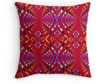 Retro,colourful,tribal,cushion