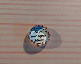 18 mm - nice Grandma love glass cabochon
