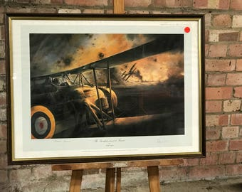 Framed Print 'The Swordfish Attack at Taranto' by Robert Taylor signed by Charles Lamb & Sir Richard Irwin