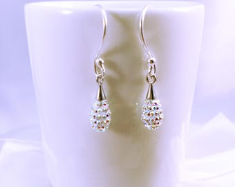 Wedding gift bridesmaids witnesses or guests rhinestone sparkle earrings