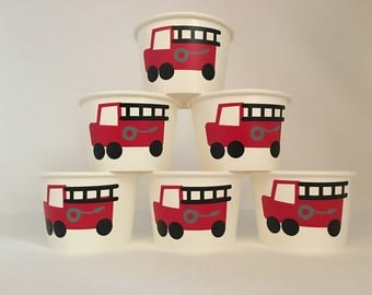 Fireman Party Snack Cups, Firetruck Party cups
