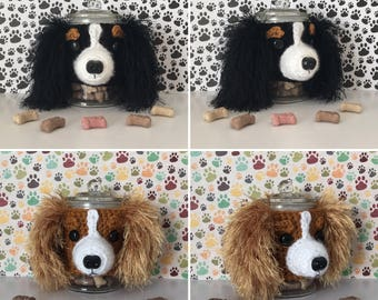 Cavalier King Charles Spaniel - Dog Treat Jar - Crazy Dog Lady - Dog Mama - Fur Mama - Best Dog Ever - Pure Breed Dog - My Kids Have Paws