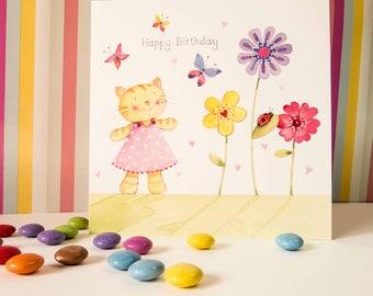 GB03   Cat Birthday Card