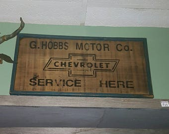 Vintage style Wooden Chevrolet Sign