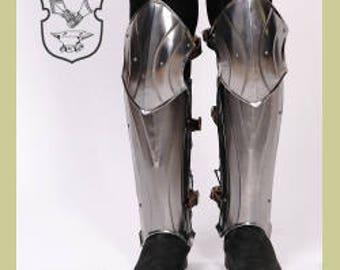 """Larp armor Female Armor ,Fantasy  Costume  """"Warrior Princess"""" steel  armor for women: greaves"""