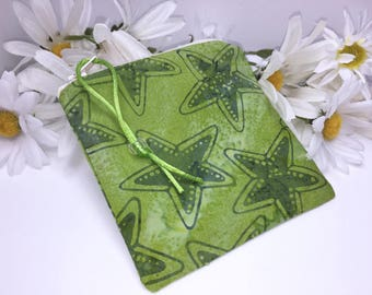 Green Reusable Bag, Water Resistant Pouch, Quick Dry Design Wetbag, Wet Pouch, Reusable Feminine Products, Pacifier Pouch, PUL Lining