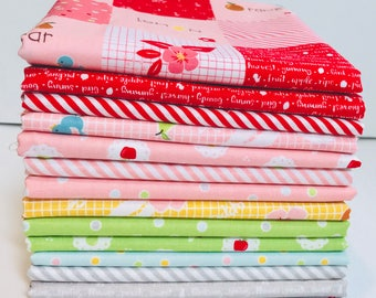SALE!! 1/2 Yard Bundle Sweet Orchard by Sedef Imer of Down Grapevine Lane for Riley Blake Designs -14 Fabrics