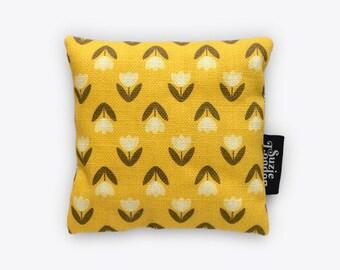 White Tulip Pattern Lavender Bag in Yellow