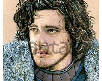 Stampa colorata Jon Snow Game of thrones