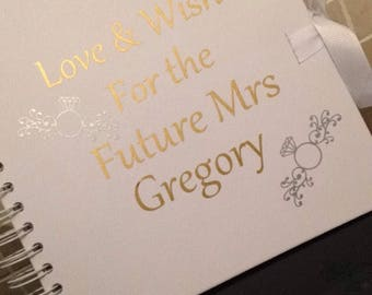 Personalised Hen Party Guest Book