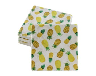 Pineapple decor coaster set for drinks and decoration