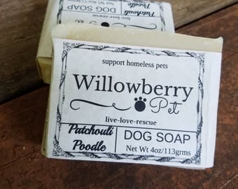 Dog Soap Bar - Dog Shampoo Bar - Dog Soap - Pet Soap - Natural Pet Soap -Pet Shampoo Bar - Natural Pet Care - Patchouli Poodle