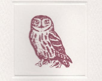 The Owl Foldover Note