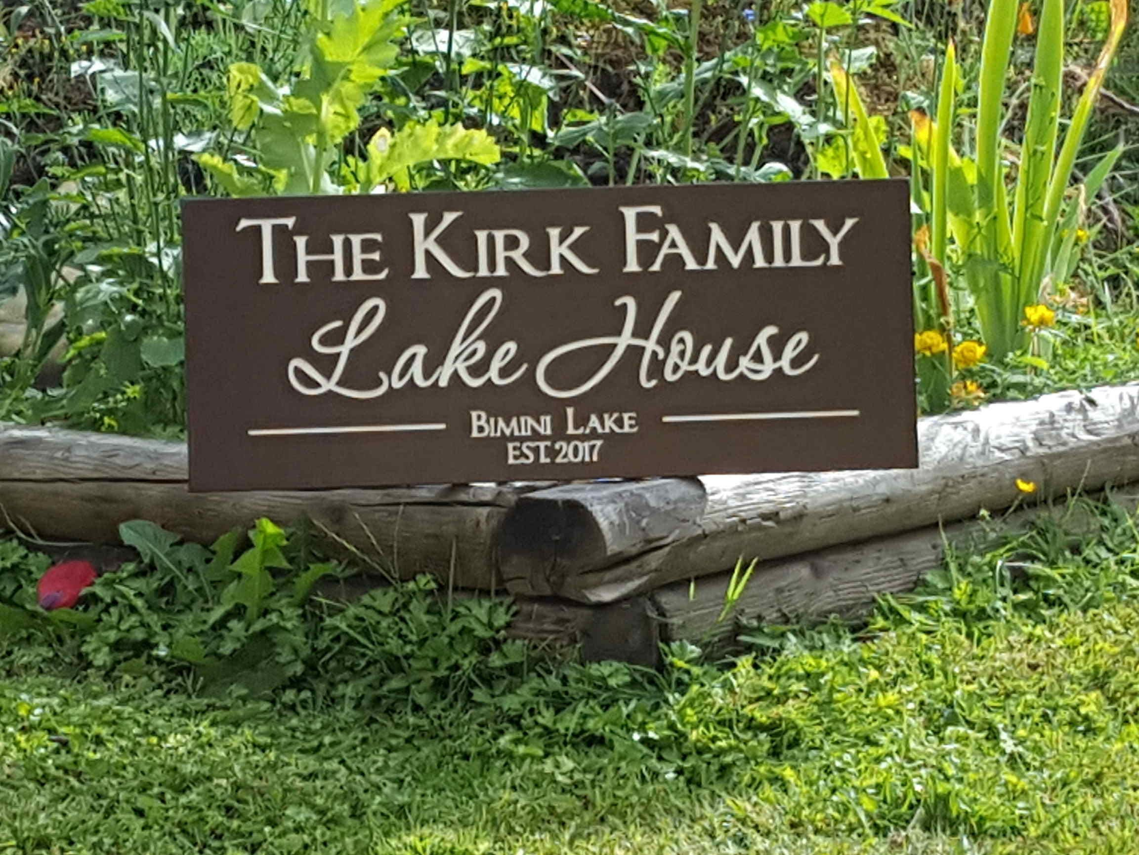Carved Outdoor Lake House Sign-Personalized Family Name Sign-Custom ...