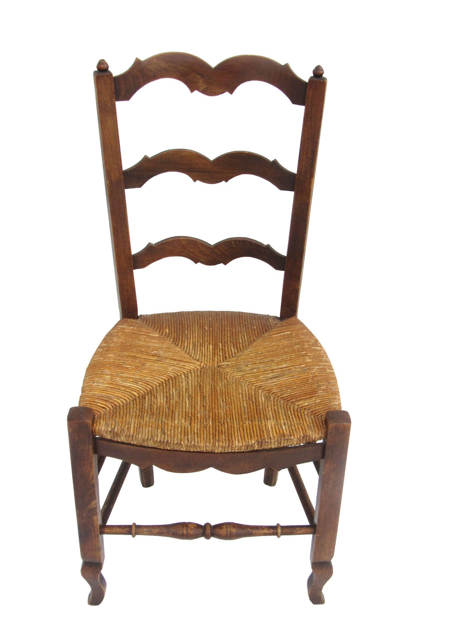 pair of antique french country rush seat chairs french provincial