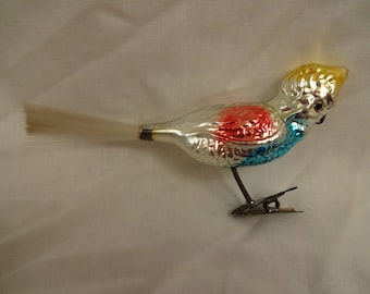 Christmas Ornament Vintage Glass Cuckatoo from Germany